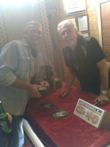 Dennis with the great John Mayall, at the Civic before the concert, he was flogging his own CD's in the foyer !!