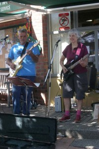 Busking at the Howick market. 2009